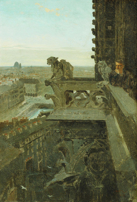 Art Prints of Gargoyles at Notre Dame by Winslow Homer