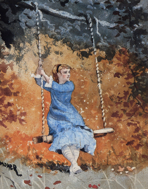 Art Prints of Girl on a Swing by Winslow Homer