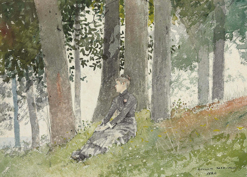 Art Prints of Girl Seated in a Grove