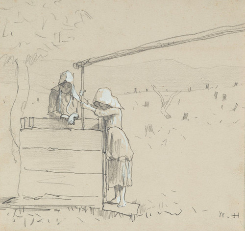 Art Prints of Girls at a Well by Winslow Homer