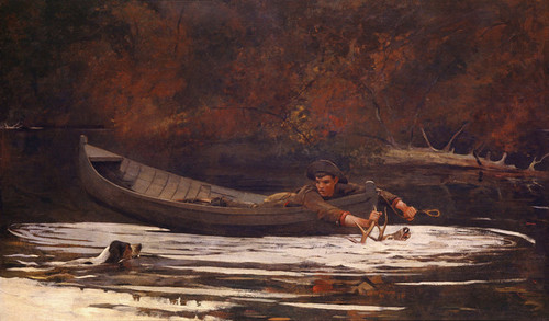 Art Prints of Hound and Hunter by Winslow Homer
