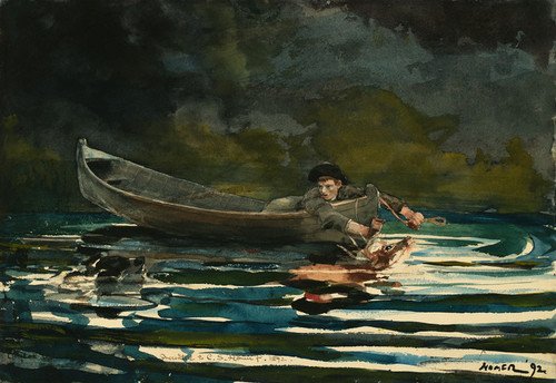 Art Prints of Hound and Hunter Sketch by Winslow Homer