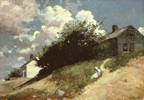 Art Prints of Houses on a Hill by Winslow Homer