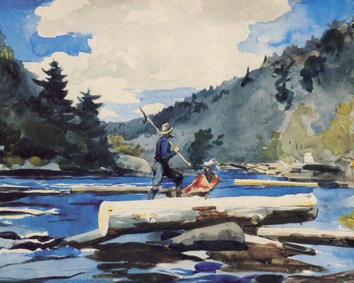 Art Prints of Hudson River Logging by Winslow Homer
