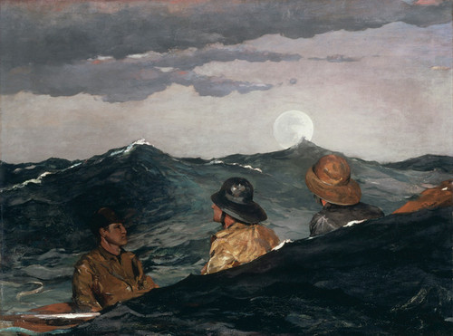 Art Prints of Kissing the Moon by Winslow Homer