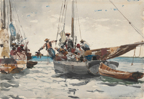 Art Prints of Market Scene Nassau by Winslow Homer