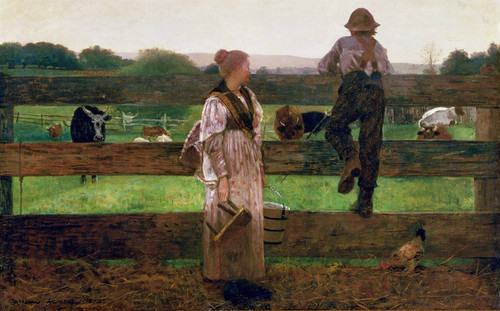 Art Prints of Milking Time by Winslow Homer