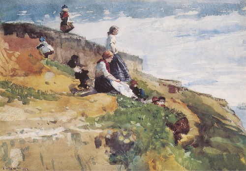 Art Prints of On the Cliff by Winslow Homer