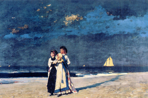Art Prints of Promenade on the Beach by Winslow Homer