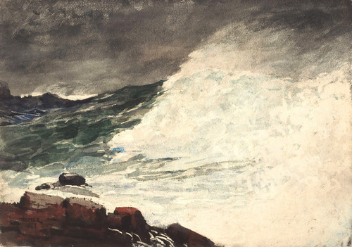 Art Prints of Prout's Neck Breaking Waves by Winslow Homer