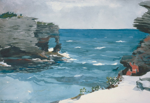 Art Prints of Rocky Shore Bermuda by Winslow Homer
