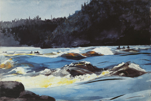 Art Prints of Saguenay River Lower Rapids by Winslow Homer