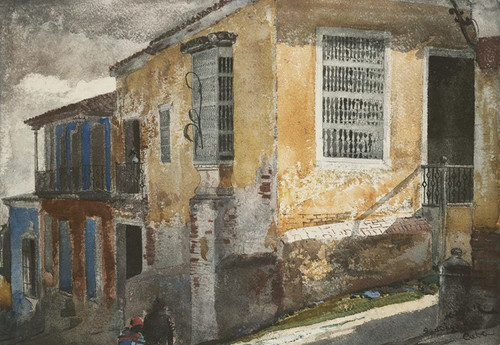 Art Prints of Santiago de Cuba Street Scene by Winslow Homer