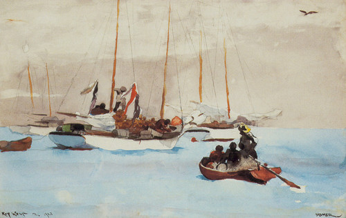 Art Prints of Schooners at Anchor Key West by Winslow Homer