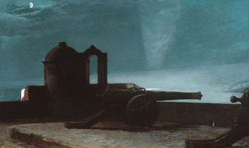 Art Prints of Searchlight on Harbor Entrance Santiago de Cuba by Winslow Homer