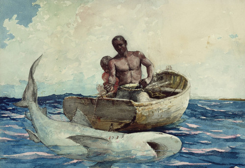 Art Prints of Shark Fishing by Winslow Homer