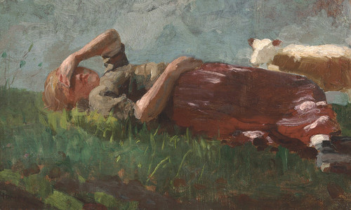 Art Prints of Shepherd Girl Resting by Winslow Homer