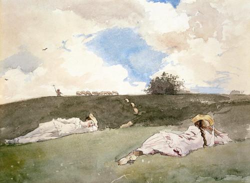 Art Prints of Shepherdesses Resting by Winslow Homer