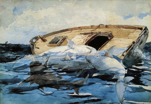 Art Prints of Sharks by Winslow Homer