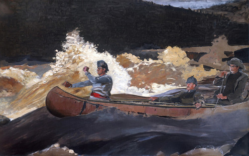 Art Prints of Shooting the Rapids Saguenay River by Winslow Homer
