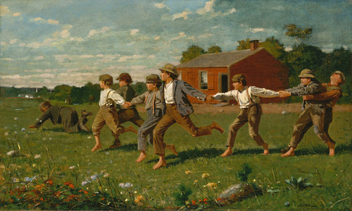Art Prints of Snap the Whip by Winslow Homer