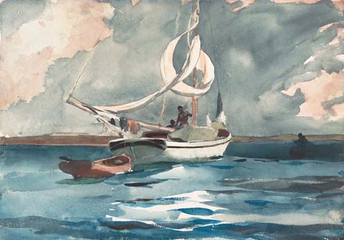 Art Prints of Sloop Nassau by Winslow Homer