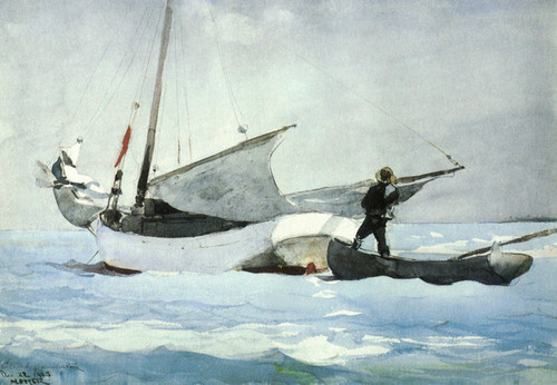 Art Prints of Stowing the Sail by Winslow Homer