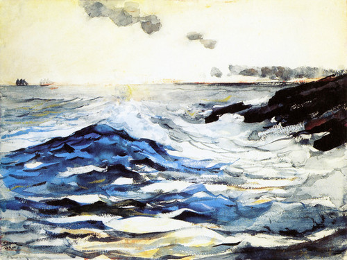 Art Prints of Sunset Prout's Neck by Winslow Homer