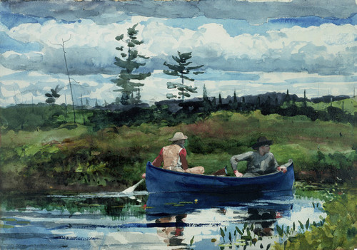 Art Prints of The Blue Boat by Winslow Homer
