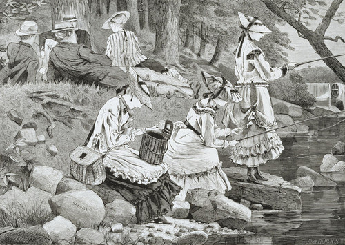 Art Prints of The Fishing Party by Winslow Homer