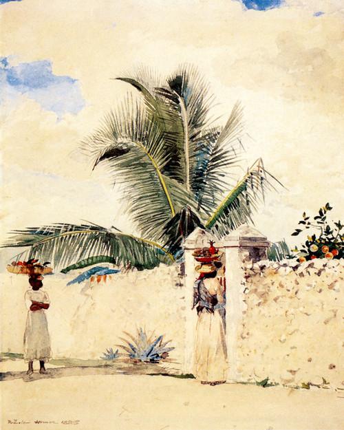 Art Prints of The Garden Gate by Winslow Homer