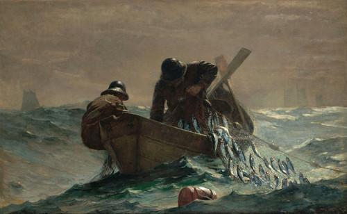 Art Prints of The Herring Net by Winslow Homer
