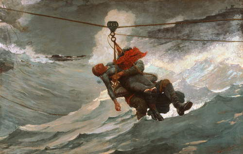Art Prints of The Life Line by Winslow Homer