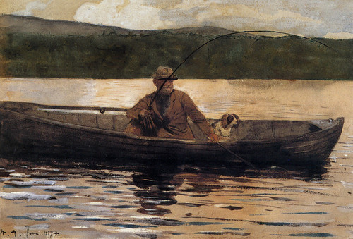 Art Prints of The Painter Eliphalet Terry Fishing from a Boat by Winslow Homer