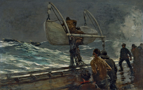 Art Prints of The Signal of Distress by Winslow Homer