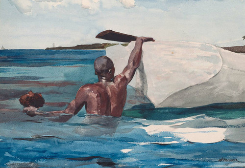Art Prints of The Sponge Diver by Winslow Homer
