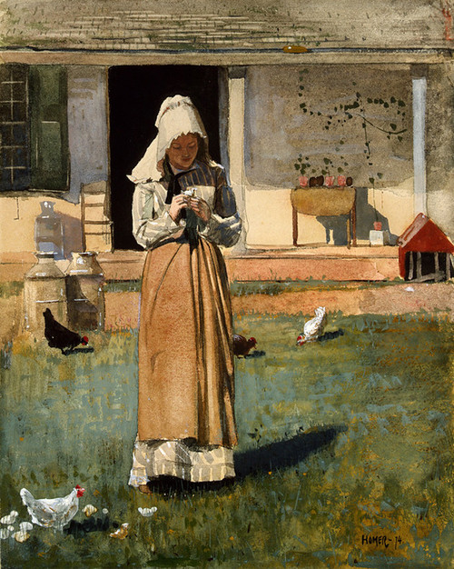Art Prints of The Sick Chicken by Winslow Homer