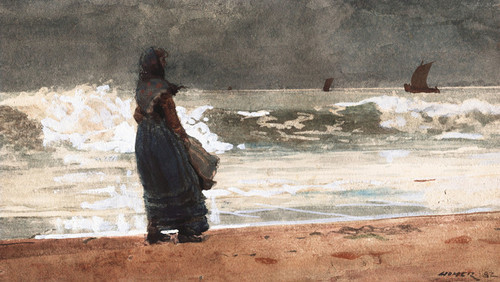 Art Prints of The Watcher Tynemouth by Winslow Homer