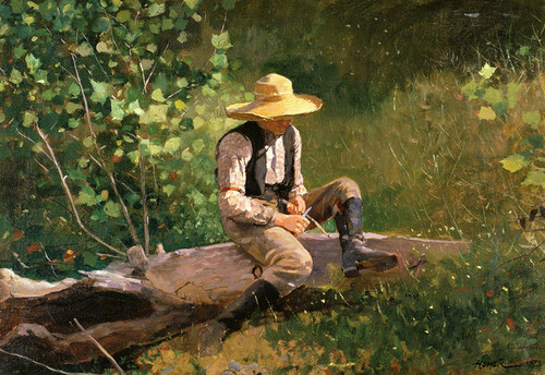 Art Prints of The Whittling Boy by Winslow Homer