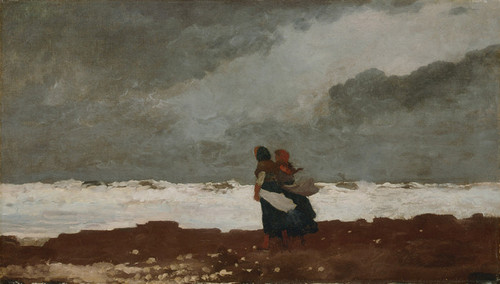 Art Prints of Two Figures by the Sea by Winslow Homer
