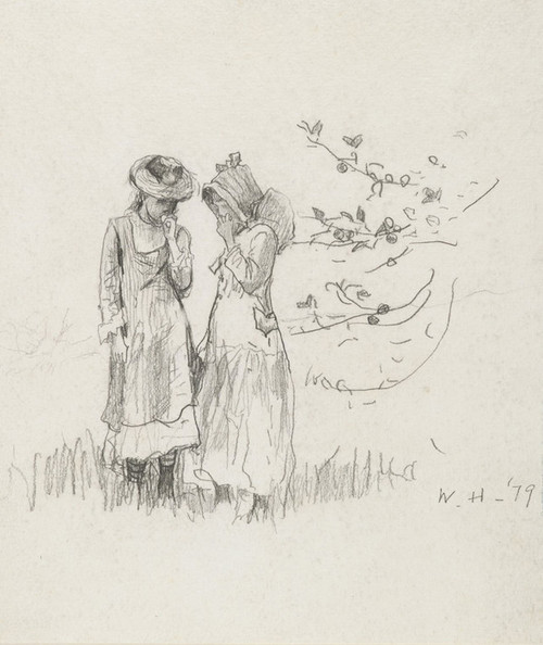 Art Prints of Two Girls in a Field by Winslow Homer