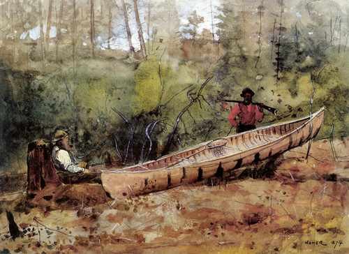 Art Prints of Trappers Resting by Winslow Homer