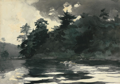 Art Prints of Two Men Rowing on a Lake by Winslow Homer