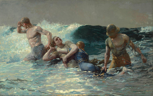 Art Prints of Undertow by Winslow Homer