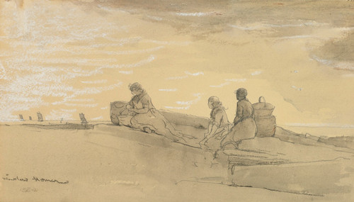Art Prints of Waiting by Winslow Homer