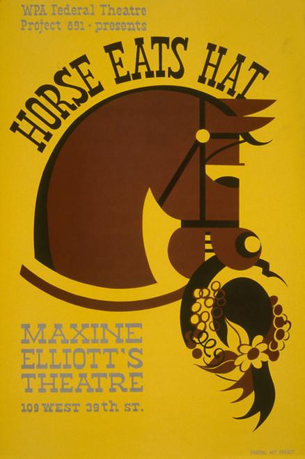 Art Prints of Horse Eats Hat, Maxine Elliott's Theatre (399086), WPA Poster
