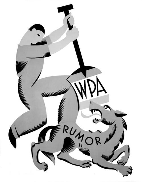 Art Prints of WPA, Rumor (399130), WPA Poster