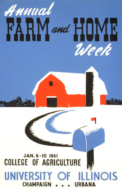 Art Prints of Annual Farm and Home Week (399116), WPA Poster