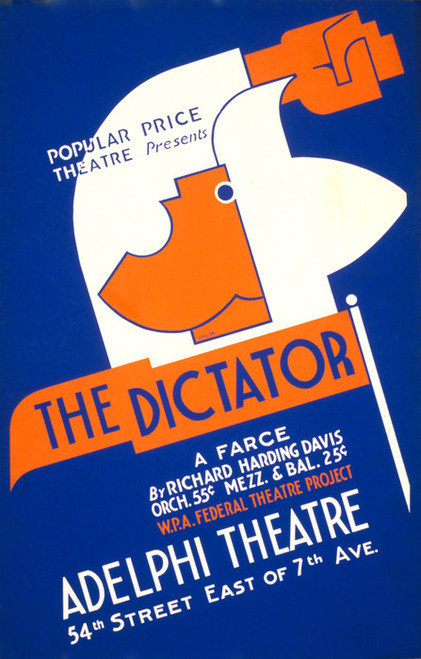 Art Prints of Popular Price Theatre Presents the Dictator (399166), WPA Poster