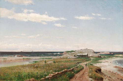 Art Prints of A Breezy Day, Sakonnet Point, Rhode Island by Worthington Whittredge